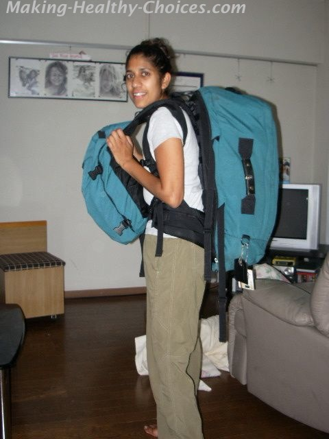Nadia Backpacking
