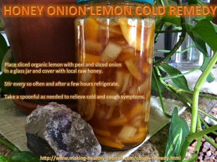 Homemade Honey Onion Lemon Cough Remedy