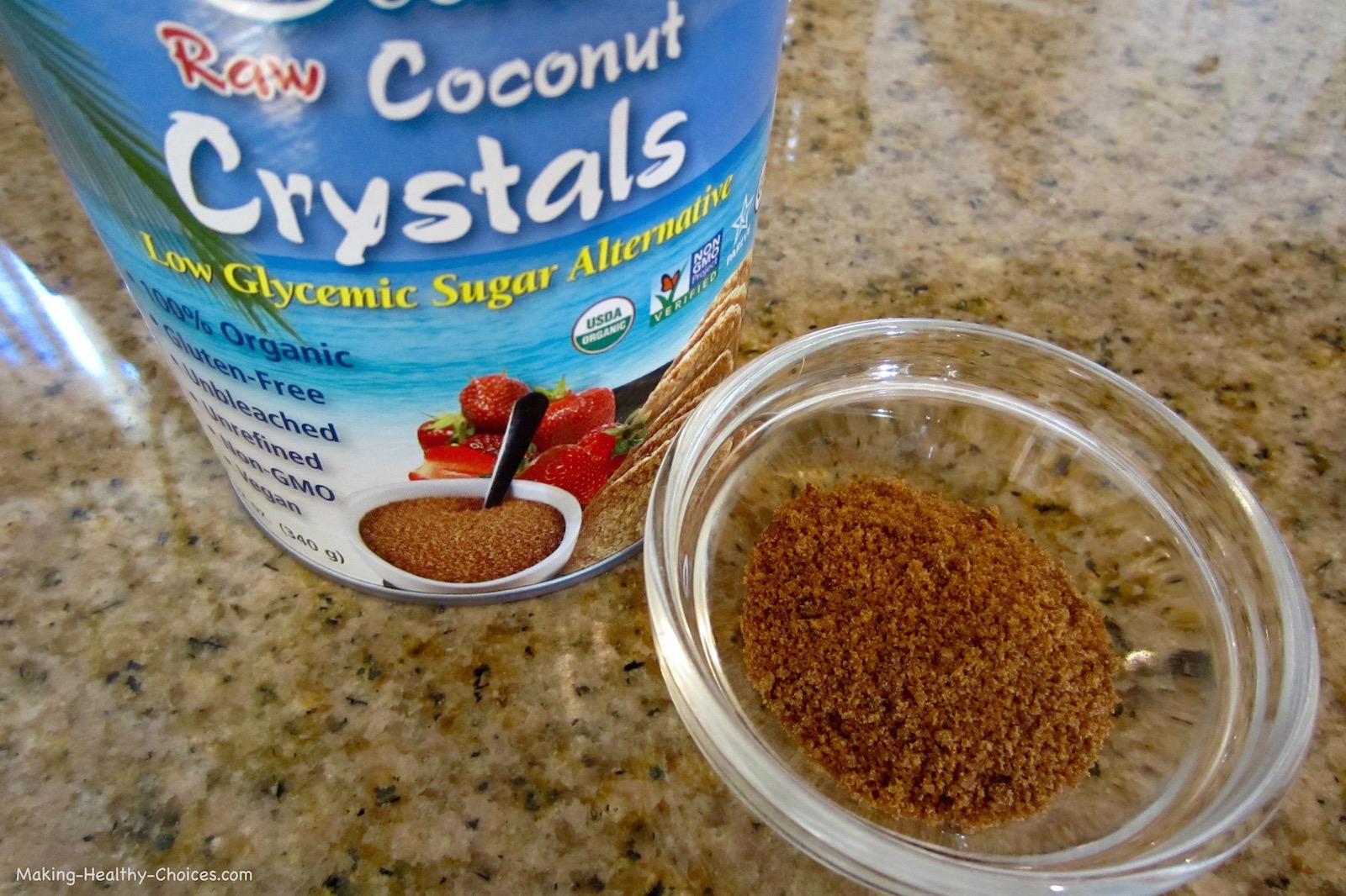 Coconut Crystals - Healthy Sugar Substitute