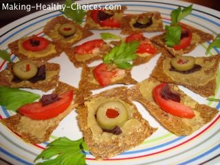 Raw Crackers with Toppings