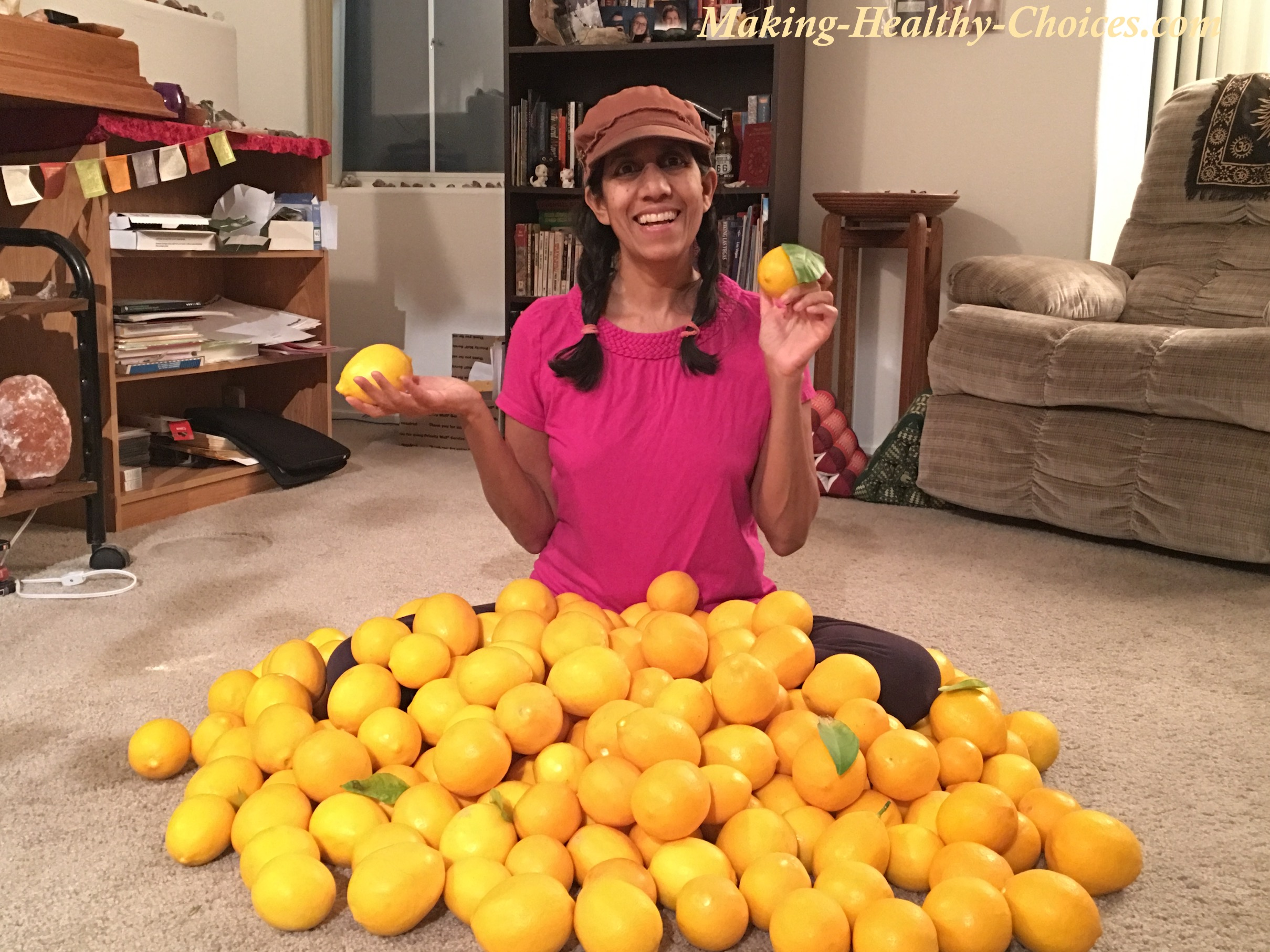 Nadia with Meyer Lemon Harvest