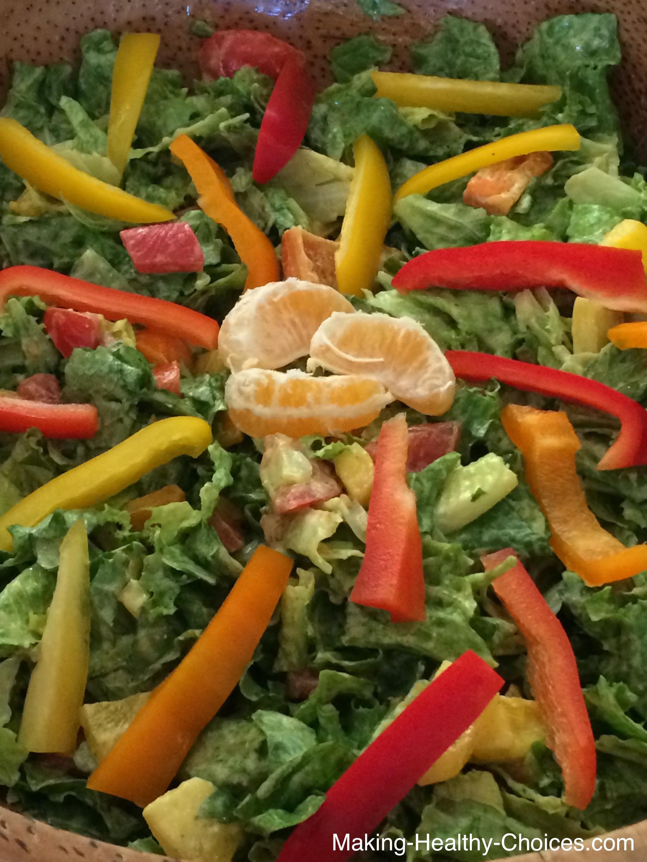 Persimmon Mandarin Herb Salad Dressing
