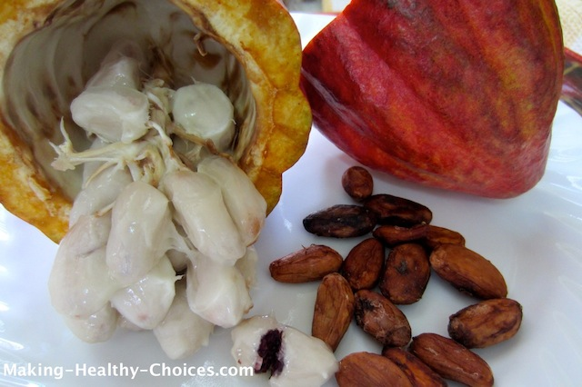 Cacao Pod, Pulp and Beans