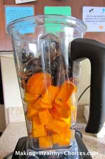 Pumpkin Pie Ingredients in Blender