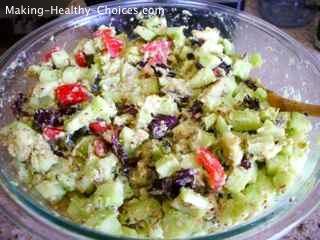 Armenian Cucumber Salad
