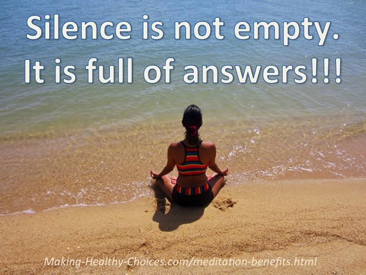 Silence in Not Empty - Meditation
