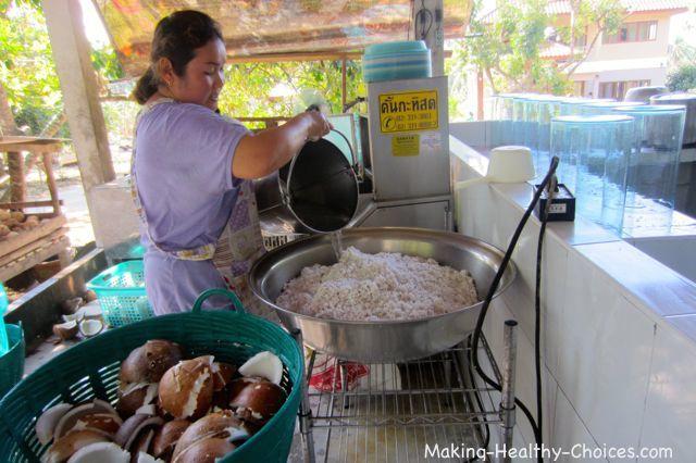 Making Cold Pressed Coconut Oil