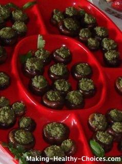 Pesto Stuffed Mushroom, Healthy Appetizer