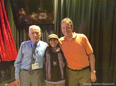 T. Colin Campbell, his son Nelson and me (Nadia Harper)